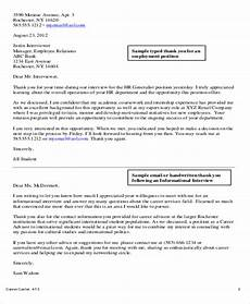 Sample Letter To Recruiter For Job Free 5 Sample Thank You Letter To Recruiter In Pdf