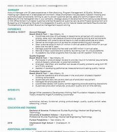 Resume Objective Account Manager Best Account Manager Resume Example Livecareer