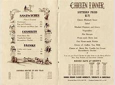 Art of the Menu: Chicken Dinner Restaurant