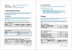 Word Templates Reports Project Progress Report Template Word Templates For Free