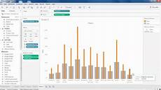 Overlapping Bar Chart Tableau 9 Tableau Overlapping Charts Youtube