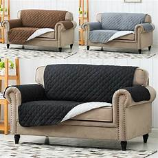 Sofa Cover 3 Seater Leather 3d Image by Luxury Quilted Reversible Sofa Protector Throw Cover