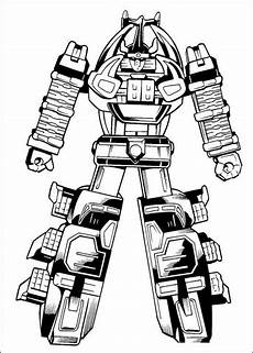 Supercoloring Robot The Megazord Is Ready To Fight Coloring Page