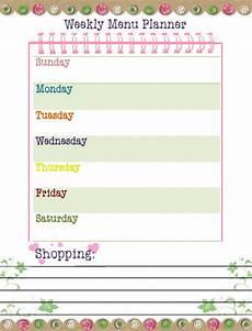 Menu Planner Template Free Printable Our Way To Learn Weekly Menu Planner Free Printable