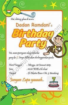 contoh undangan ulang tahun anak 3 tahun contoh isi undangan
