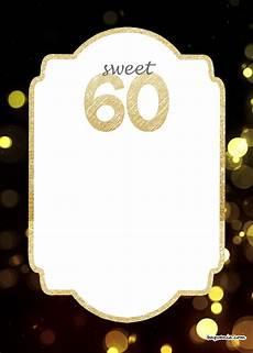 Free Printable 60th Birthday Invitations Templates Free Printable 60th Birthday Invitation Templates Drevio