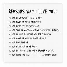 30 Reasons Why I Love You Reasons Why I Love You Mother S Day Cute Cheeky Etsy