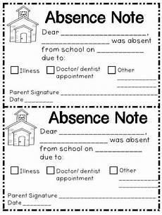 School Absence Note Template Free Absence Note Printable Parents As Teachers Teaching