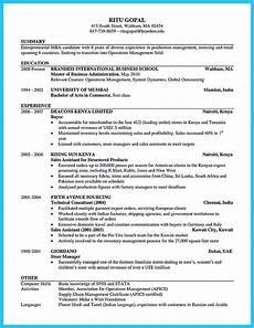 Sample Mba Resumes Mba Resume Sample Harvard Best Resume Examples