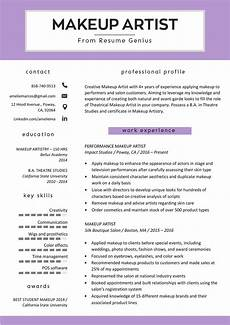 Sample Makeup Artist Resume Makeup Artist Resume Sample Amp Writing Tips Resume Genius