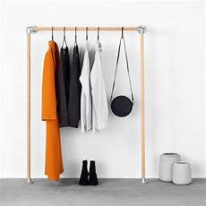 wall clothes rack boo rackbuddy monika wall mounted clothes rack out of oak wood
