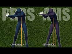 golf swing motion golf swing lateral motion pros vs ams