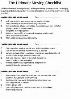 To Do Lists For Moving 5 Moving Checklist Templates For Excel Word Ultimate Guide