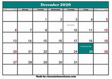 December 2020 Calendar With Holidays December 2020 Calendar With Holidays Calendar Template