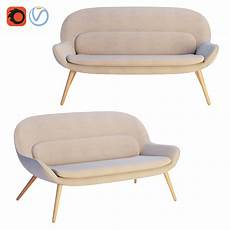 Steel Sofa 3d Image by 3d Steelcase X Bolia Philippa Two Seater Sofa