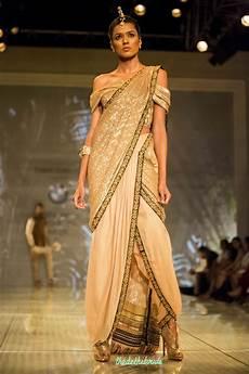 Dhoti Saree Design Tarun Tahiliani At India Bridal Fashion Week 2014