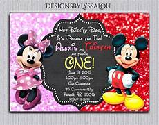 Mickey Mouse Birthday Invites Pin On Twins Birthday Number 3