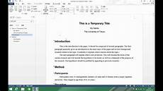 Apa Formatting Research Paper How To Format Your Research Paper Youtube