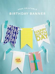 Create A Birthday Banner Free Printable Happy Birthday Banner Pizzazzerie