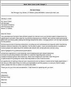 Cover Letter For Teller Position Sample Bank Teller Cover Letter 7 Examples In Word Pdf
