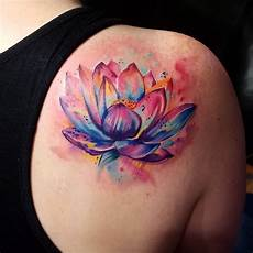 Lotus Flower Designs On Shoulder 21 Lotus Flower Designs Ideas Design Trends