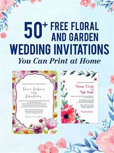 Printable Invitations At Home 50 Free Floral And Garden Wedding Invitations You Can