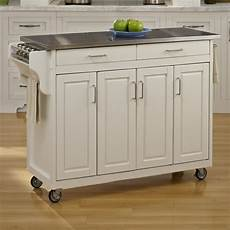 white kitchen island with stainless steel top august grove regiene kitchen island with stainless steel