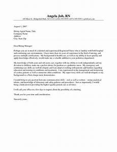 Pediatric Nurse Cover Letters Nursing Cover Letter Template Ideas For Nurses Generic
