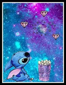 lilo and stitch disney blue pink purple galaxy glitter