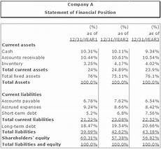 Common Size Financial Statements The Common Size Financial Statement Analysis Vertical And