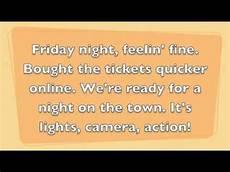 Lights Camera Action Song Lights Camera Action Youtube
