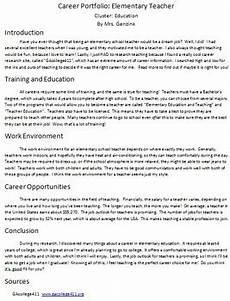 Samples Of Career Portfolios Career Portfolio Project Report Example Published 3 Ways