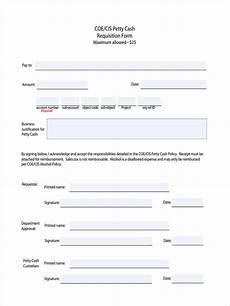 Cash Reimbursement Form Free 5 Petty Cash Requisition Forms In Pdf