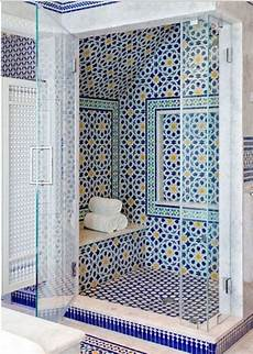 mosaic tiled bathrooms ideas blue moroccan mosaic tile bathroom in cape cod