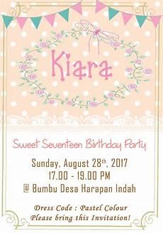 smiley kids kartu undangan ulang tahun invitation card