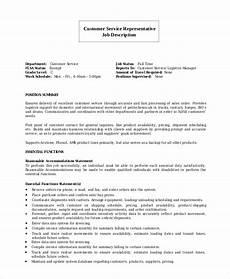 Duties Of A Customer Service Executive Free 7 Sample Customer Service Representative Resume