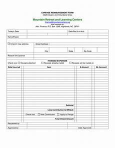 Generic Expense Reimbursement Form Expense Reimbursement Forms Word Excel Fomats Word