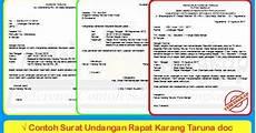 contoh surat undangan rapat karang taruna doc
