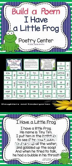 Pocket Chart Poems For Kindergarten Build A Poem I Have A Little Frog Pocket Chart Center