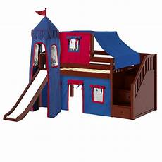 low loft bed with stairs curtain top tent tower