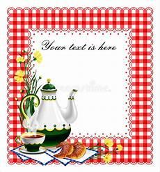 Tea Party Photo Invitations The Tea Party Invitation 2 Stock Vector Illustration