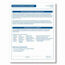 Self Identify Form Voluntary Self Identification Of Disability For Ofccp