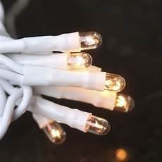 Christmas String Lights White Cord 20 Count Clear Bulb And White Cord Teeny String Lights