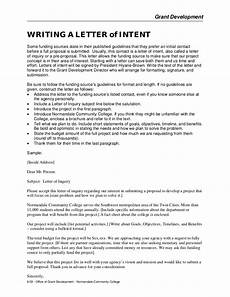 Letter Of Intent To Writing A Letter Of Intent
