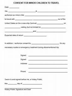 Child Travel Consent Form Samples 10 Free Sample Travel Consent Form Printable Samples