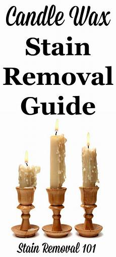 candel wax candle wax stain removal guide