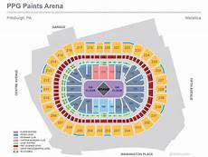 Seating Chart Of Ppg Paints Arena Metallica Ppg Paints Arena