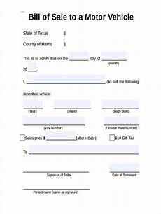 Bill Of Sale For Car Sale Free 6 Motor Bill Of Sale Forms In Ms Word Pdf