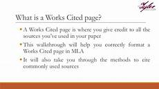 What Is Works Cited Page Mla Works Cited Page