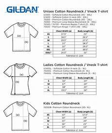 Gildan Unisex Size Chart Gildan Premium Cotton Roundneck T Shirt 76000 Fr Usa